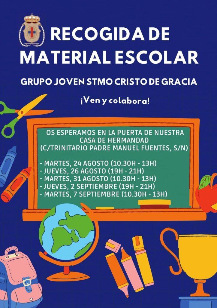 RECOGIDA DE MATERIAL ESCOLAR - GJ CRISTO DE GRACIA